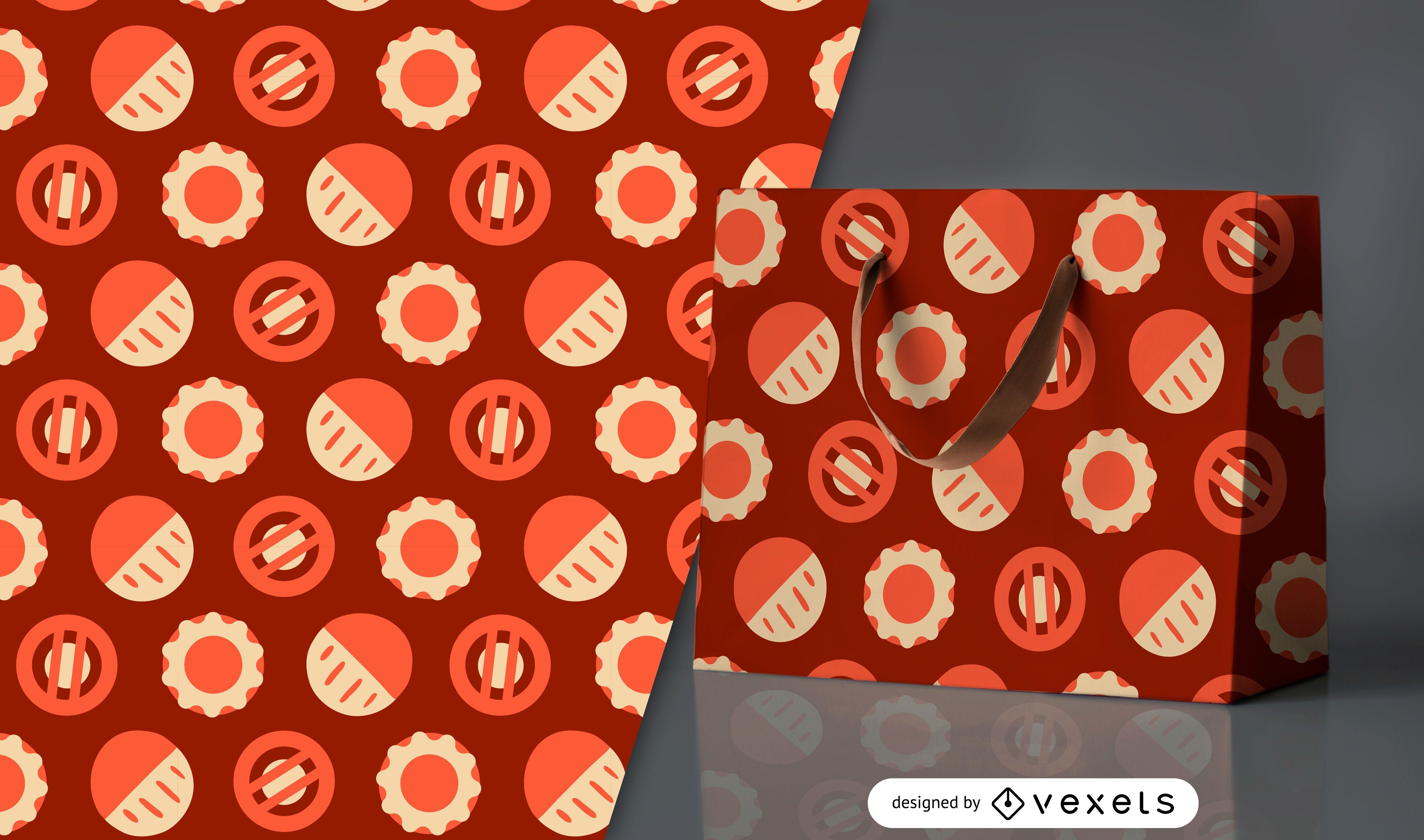 Diseño de patrón de círculos geométricos