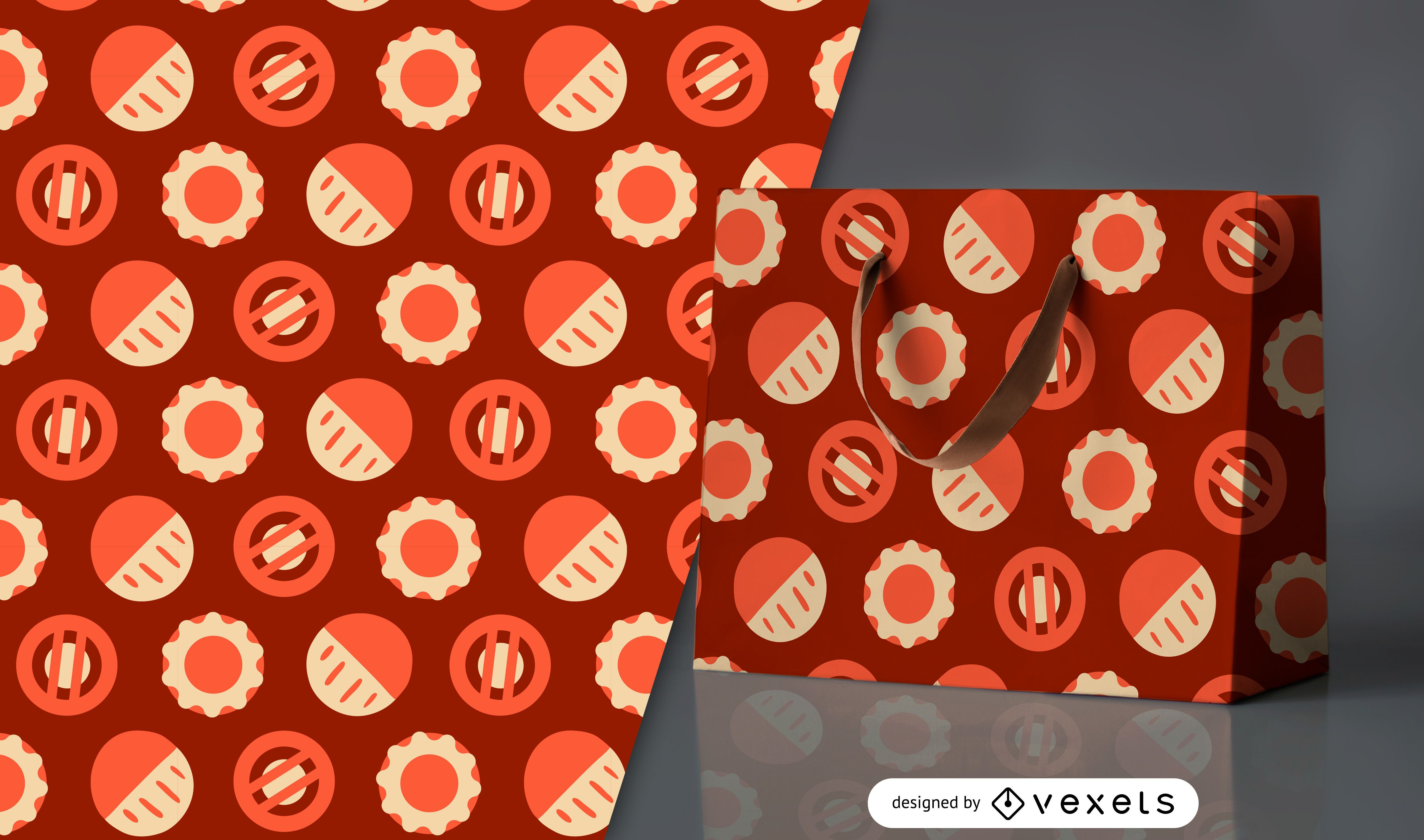 Geometric circles pattern design