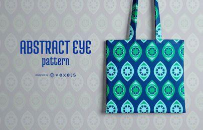 Diseño de patrón de ojo abstracto