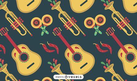Musterdesign für mexikanische Instrumente
