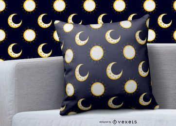Moon sun pattern design