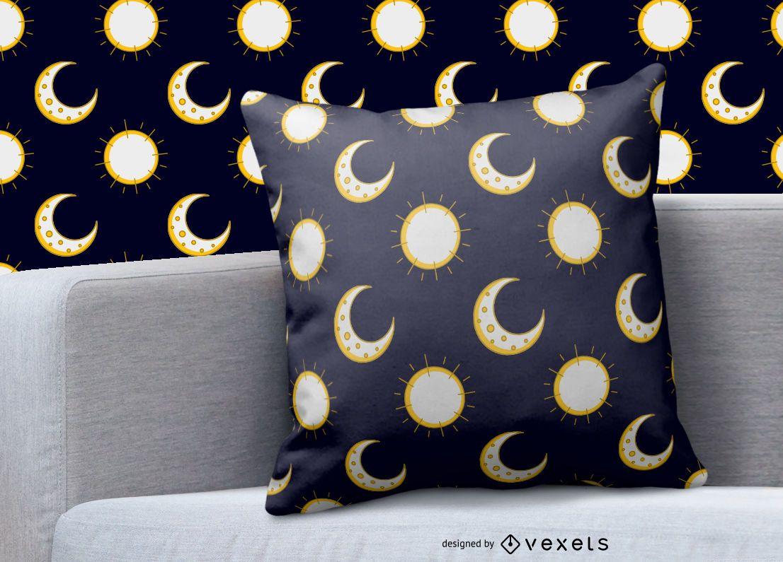 Diseño de patrón de sol de luna