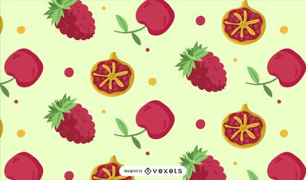 Red fruit pattern design
