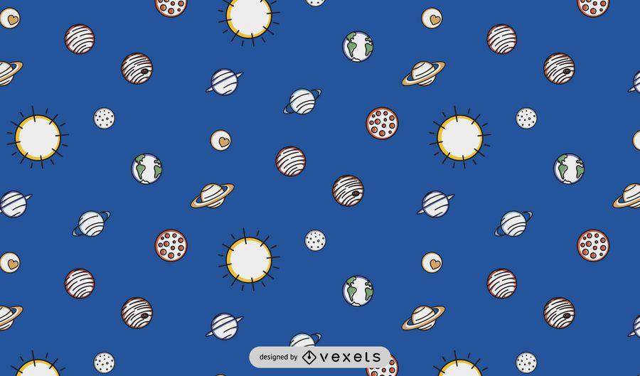 Solar system pattern design