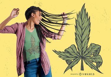 Design de t-shirt de cannabis