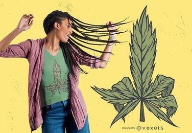 Diseño de camiseta de cannabis.
