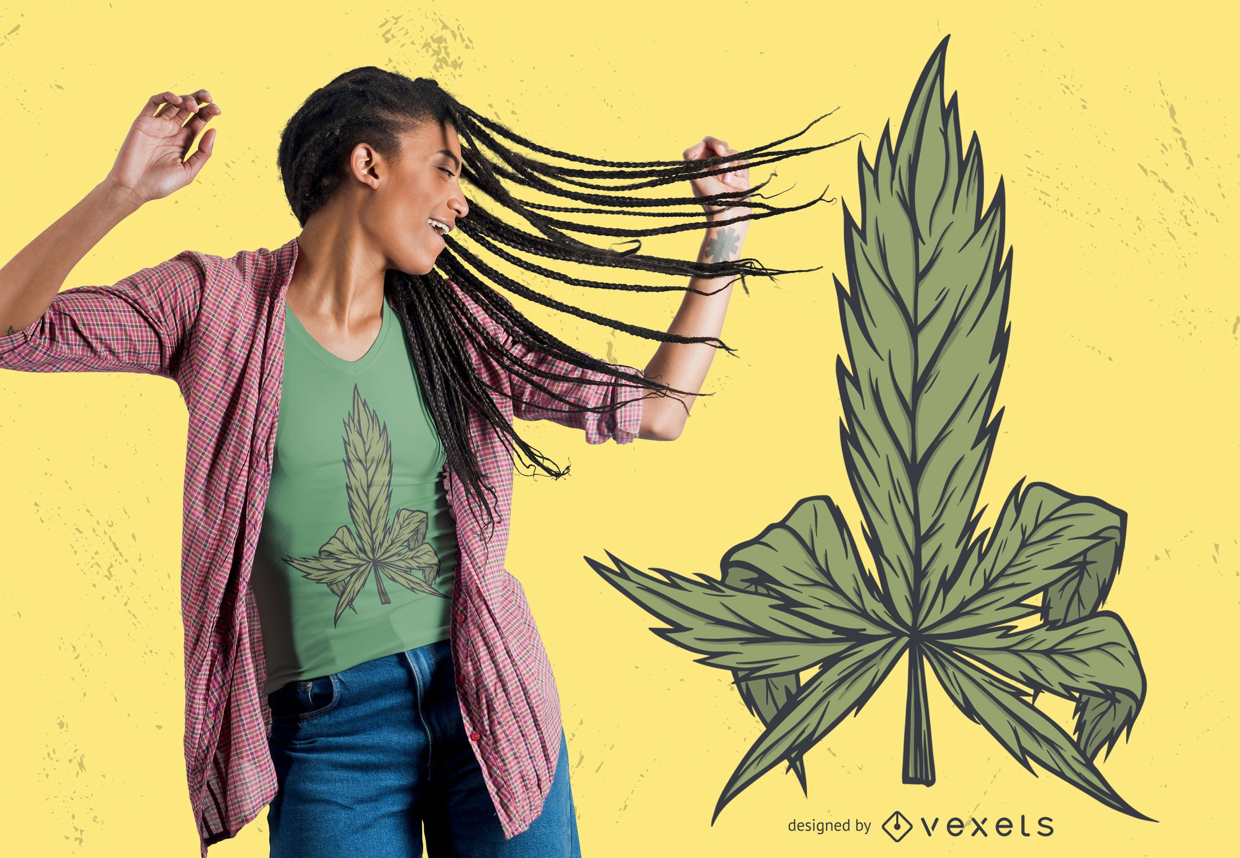 Diseño de camiseta de cannabis