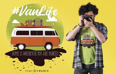 Design de t-shirt Van Life