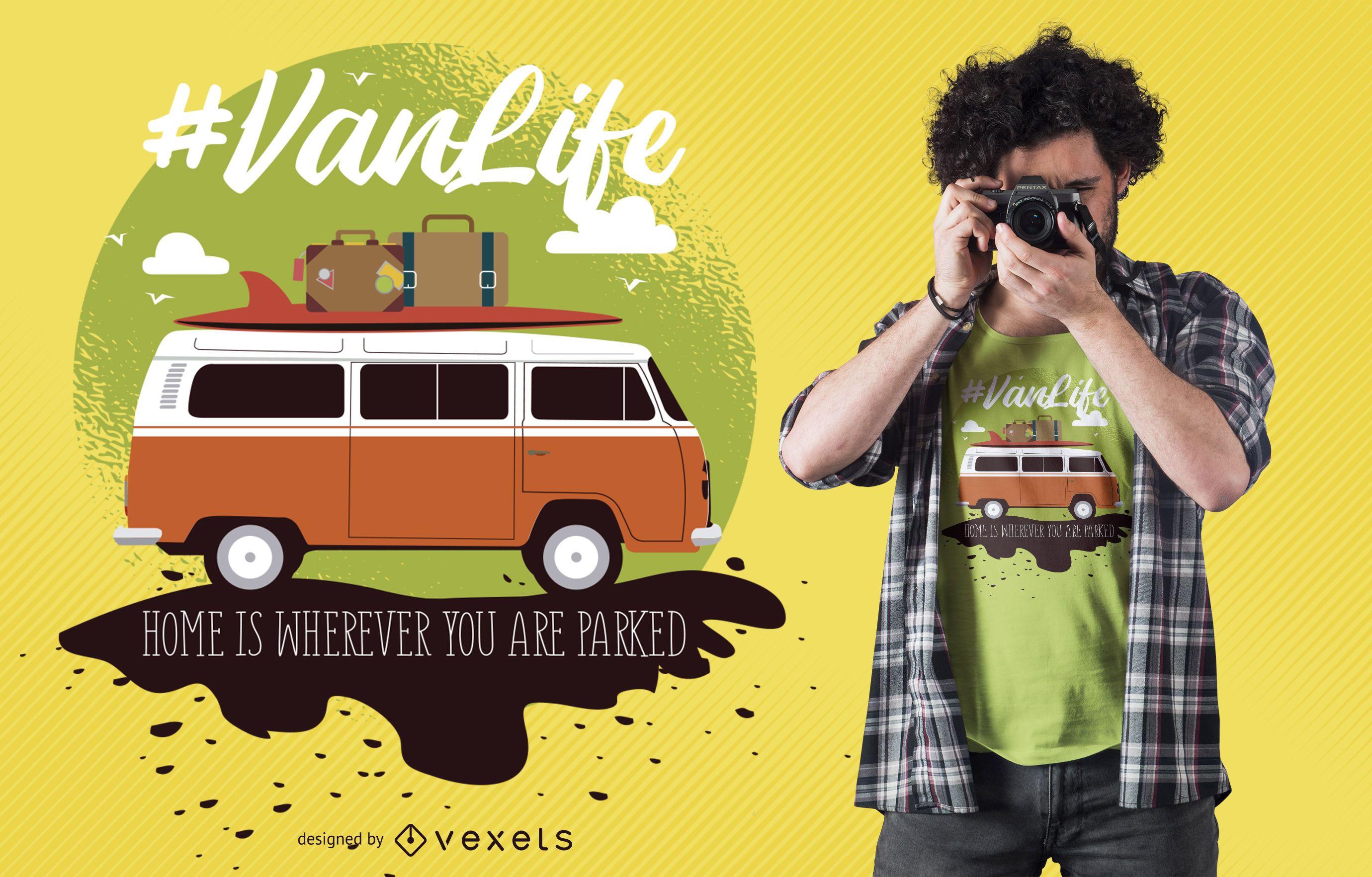 Van life t-shirt design
