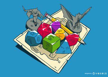 Ilustração do jogo RPG