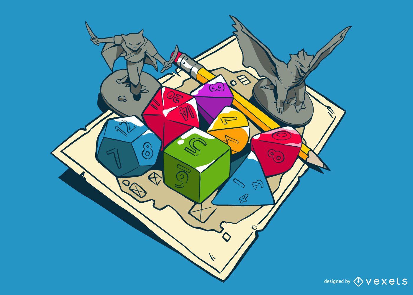 Ilustración del juego de rol