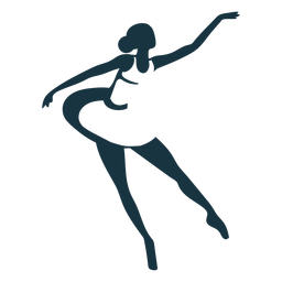 Bailarina bailarina de ballet pointe zapato postura silueta ballet