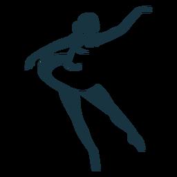 Ballerina-Balletttänzer pointe Schuhhaltungs-Schattenbildballett