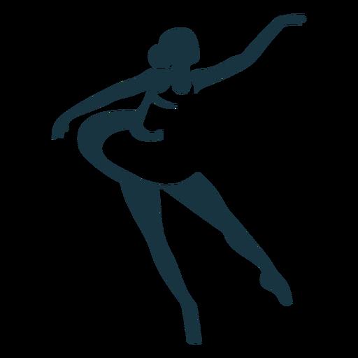 Bailarina dançarina de balé postura sapatilha de ponta silhueta balé