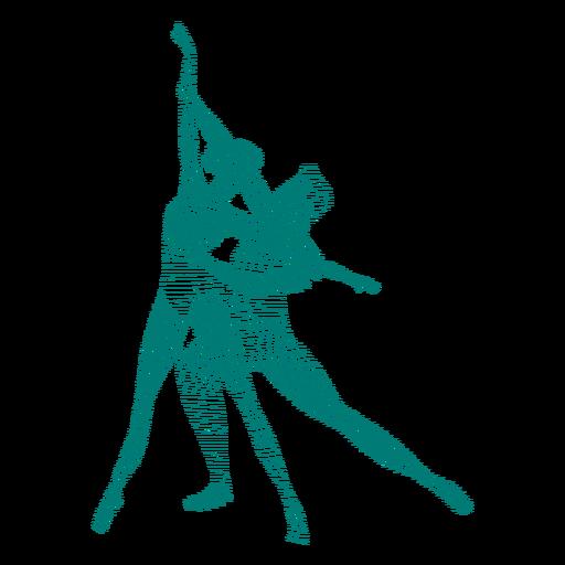 Bailarina bailarina sapato de ponta postura de tricô listrado silhueta balé Transparent PNG