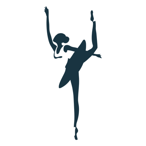 Ballerina ballet dancer posture skirt silhouette ballet Transparent PNG