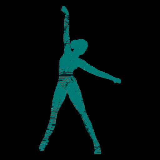Ballerina ballet dancer posture tricot striped silhouette ballet Transparent PNG