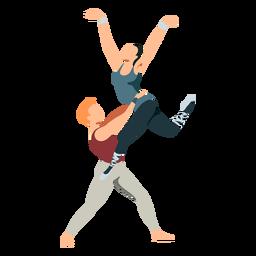 Bailarina bailarina de ballet tricot pointe zapato postura ballet plano