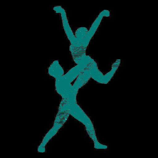Bailarina bailarina de ballet tricot pointe zapato postura ballet silueta rayada Transparent PNG