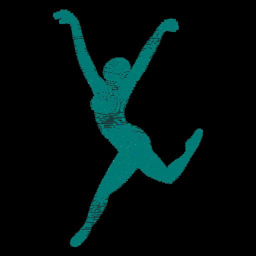 Bailarina bailarina de ballet postura de tricot silueta de rayas ballet Transparent PNG