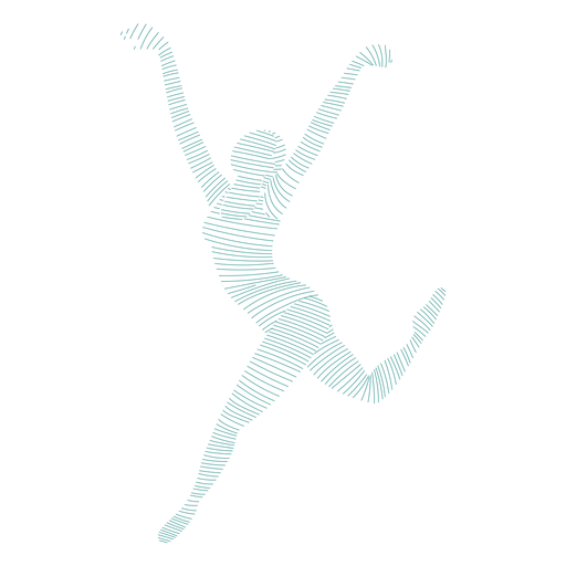 Ballerina ballet dancer tricot posture striped silhouette ballet Transparent PNG