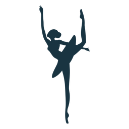 Bailarina postura bailarina de ballet falda silueta ballet