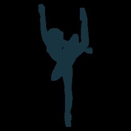 Postura de bailarina dançarina de balé saia silhueta balé