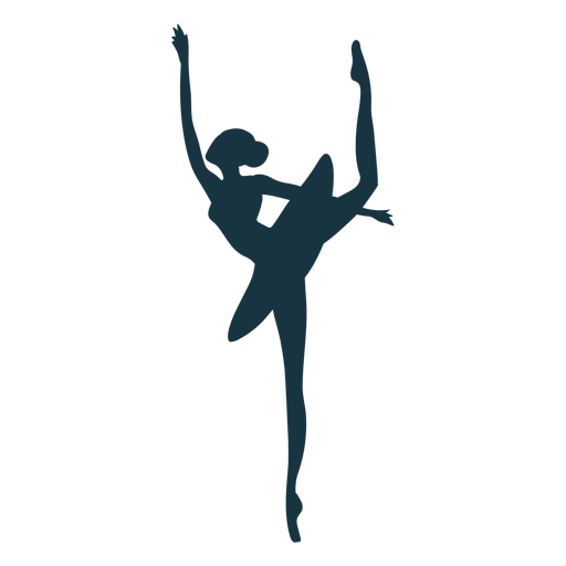 Bailarina postura bailarina bailarina saia silhueta ballet