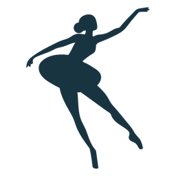 Ballerina posture skirt ballet dancer silhouette ballet