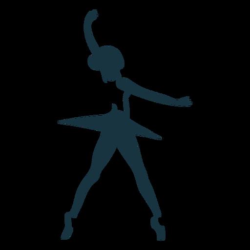 Bailarina saia dançarina de balé postura de sapato de ponta silhueta Transparent PNG