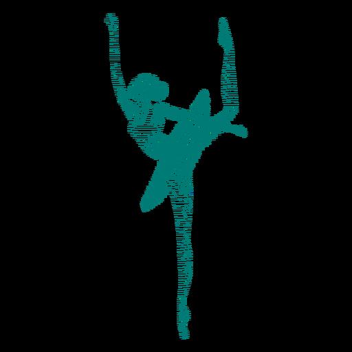 Ballerina skirt ballet dancer posture striped silhouette ballet