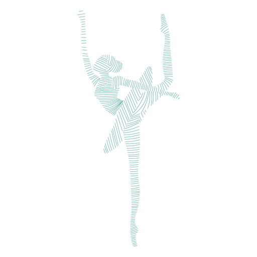 Falda de bailarina bailarina de ballet postura postura silueta a rayas ballet Transparent PNG