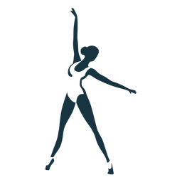 Bailarina tricot bailarina de ballet pointe zapato postura silueta ballet