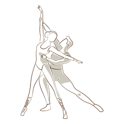 Dançarina de balé postura de bailarina sapatilha de ponta tricot vector ballet