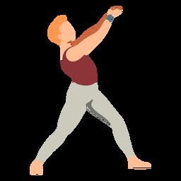 Dançarino de balé balé plana