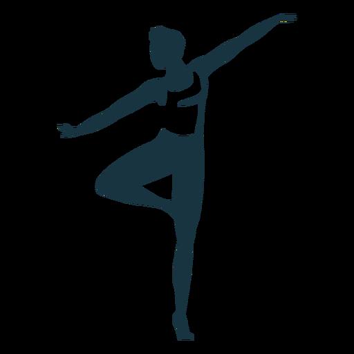 Ballet dancer grace posture detailed silhouette ballet