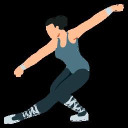 Postura de dançarina de balé bailarina sapato de ponta tricot ballet plana