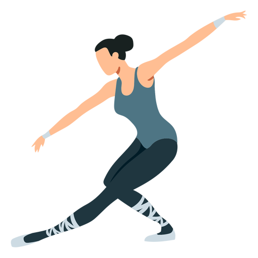 Bailarina de ballet postura bailarina pointe zapato tricot ballet plano Transparent PNG