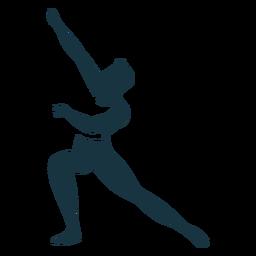 Postura de bailarina de ballet ballet de silueta detallada
