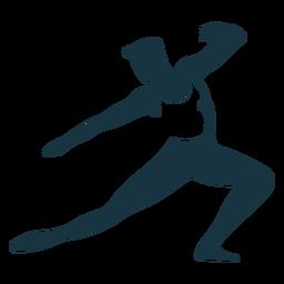 Camiseta de postura de bailarina de ballet gracia silueta detallada ballet
