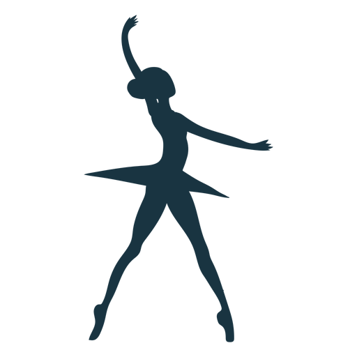 Dançarina de balé postura saia bailarina silhueta balé