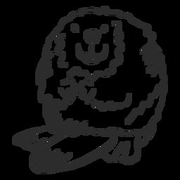 Animal de doodle gordo de roedor de cauda de castor