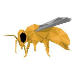 Bee leg wasp wing low poly insect