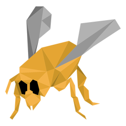 Bee wasp leg wing low poly insect