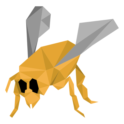 Bee wasp leg wing low poly insect Transparent PNG