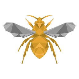 Bee wasp wing leg low poly insect