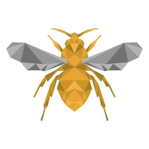 Bee wasp wing leg low poly insect Transparent PNG