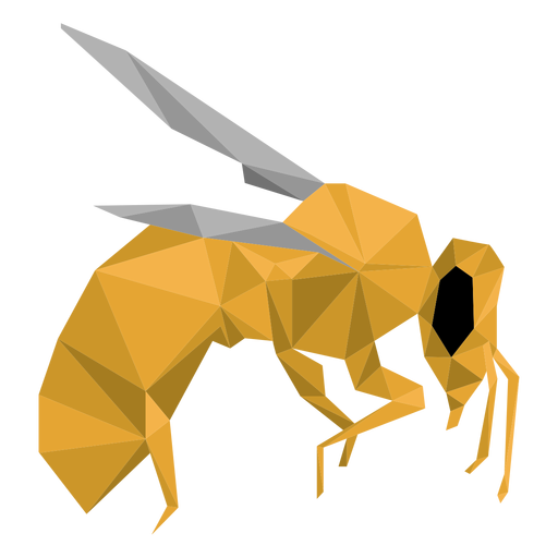 Bee wing leg wasp low poly insect Transparent PNG