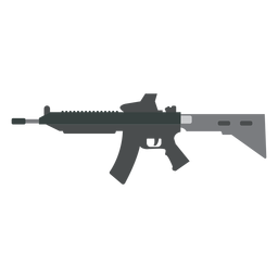 Cargador cañón cañón arma pistola plana