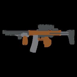 Cargador pistola cañón pistola plana